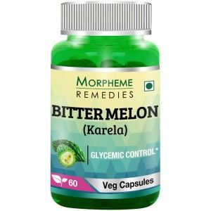 Buy Morpheme Remedies Bittermelon (Karela) Capsules for Diabetic - 500mg Extract - Nykaa