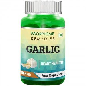 Buy Morpheme Remedies Garlic Capsules for Cardio & Cholesterol Support - 500mg Extract - Nykaa