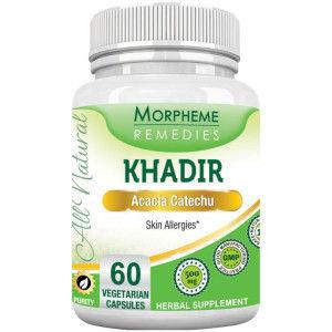 Buy Morpheme Remediess Khadir (Acacia Catechu) for Skin Allergies - 500mg Extract - Nykaa