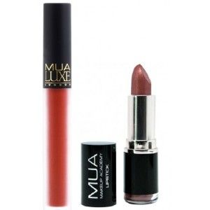 Buy MUA Lipstick - Shade 9 +  Luxe Velvet Lip Lacquer - Atomic - Nykaa