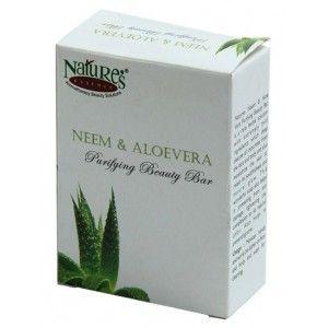 Buy Nature's Essence Neem & Aloevera Purifying Beauty Bar - Nykaa