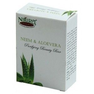 Buy Nature's Essence Neem & Aloevera Purifying Bathing Bar (Set of 3+1 Free)(Save Rs.85) - Nykaa