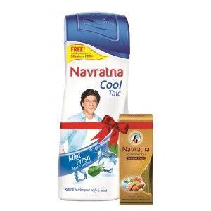 Buy Navratna Cool Mint Fresh Talc With Free Navratna Almond Cool Oil(Worth Rs.35) - Nykaa