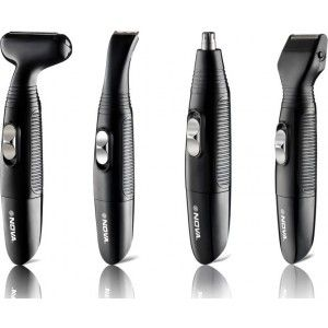 Buy Nova NG 900 100 % Waterproof portable Grooming Kit For Men (Black) - Nykaa