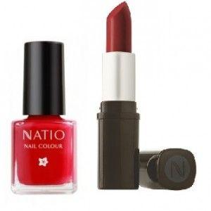 Buy Natio Ruby Lips And Nails Combo - Nykaa