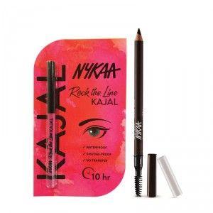 Buy Nykaa Brow Chika WOW Eyebrow Pencil Coven Cocoa 01 + Rock The Line Kajal Eyeliner - Nykaa