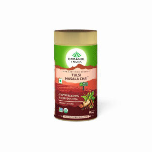 Buy Organic India Tulsi Masala Chai Tin - Nykaa