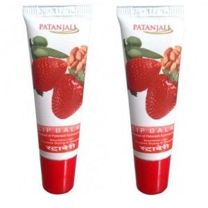 Buy Patanjali Strawberry Lip Balm (Pack Of 2) - Nykaa