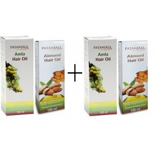 Buy Patanjali Almond + Amla Hair Oil (Pack of 2) - Nykaa