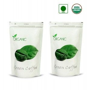 Buy NutraVigour Organic Green Coffee Beans (Decaffeinated & Unroasted) (Pack Of 2) - Nykaa