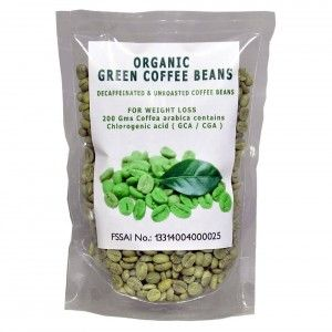 Buy NutraVigour Organic Decaffeinated Green Coffee Beans - Nykaa