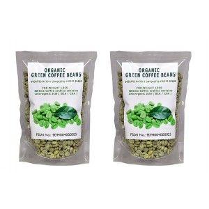 Buy NutraVigour Organic Green Coffee Beans Decaffeinated Green Coffee (Pack Of 2) - Nykaa