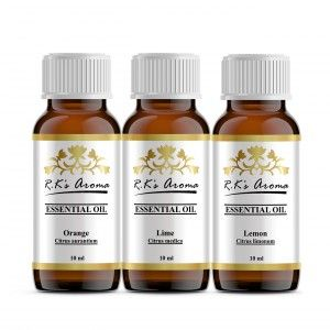 Buy R.K's Aroma Orange,Lime,Lemon (Pack of 3) Essential Oil - Nykaa