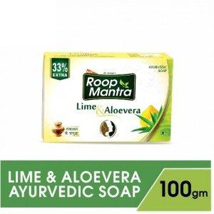 Buy Roop Mantra Lime & Aloe Vera Ayurvedic Soap - Nykaa