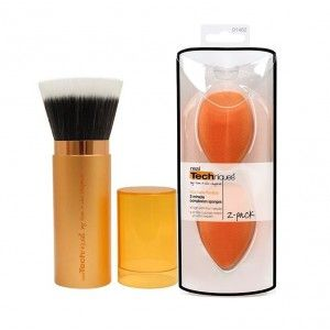 Buy Real Techniques Retractable Bronzer Brush + 2 Miracle Complex Sponges - Nykaa