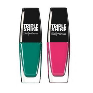 Buy Sally Hansen Triple Shine Nail - 640 Seasational + Free 600 Pink Coconut - Nykaa