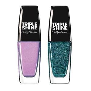 Buy Sally Hansen Triple Shine Nail - 140 Drama Sheen + Free 360 Sparkling Water - Nykaa