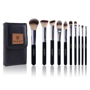 Buy Shany Black Ombré 10 Piece Essential Brush Set - Nykaa
