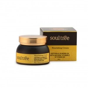 Buy SoulTree Saffron And Almond Oil With Natural Vitamin E Nourishing Cream - Nykaa