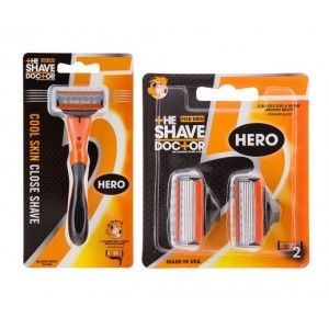 Buy The Shave Doctor Hero Razor + Hero Blade - Packs of 2 - Nykaa