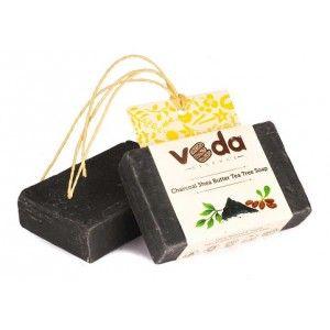 Buy Veda Essence Charcoal Shea Butter Tea Tree Soap - Nykaa