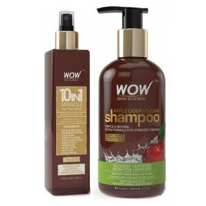 Buy WOW 10 in 1 Miracle Hair Revitalizer + Skin Science Apple Cider Vinegar Shampoo Free Paraben Sulphate - Nykaa