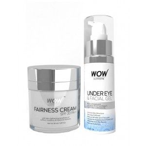 Buy WOW Ultimate Under Eye And Facial Gel + Fairness Cream SPF 20PA++ - Nykaa