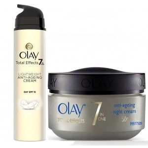 Buy Olay Total Effects 7 In One Light Weight Anti-Ageing Cream Day SPF 15 + Night Firming Cream - Nykaa