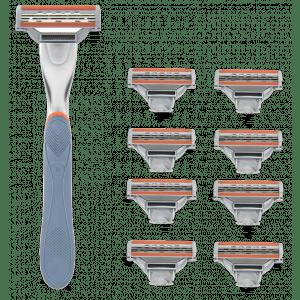 Buy WayToShave The Omega 3 Blade Razor (Pack Of 8 Cartridges + 1 Razor Handle) - Nykaa