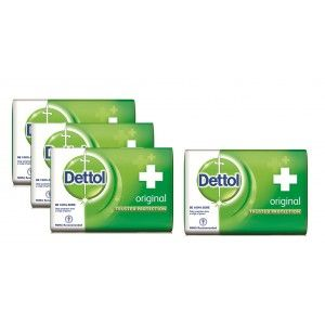 Buy Dettol Original Soap (Pack Of 3) + 125gm Dettol Soap Free (Off Rs.49) - Nykaa