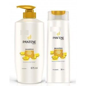 Buy Pantene Pro-V Total Damage Care Shampoo With Free 180ml Shampoo Worth Rs.110 - Nykaa