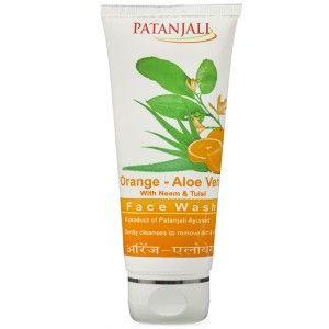 Buy Patanjali Orange Aloevera Face Wash - Nykaa
