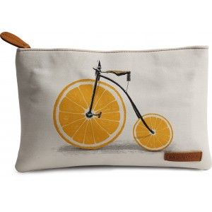 Buy DailyObjects Penny Farthing Orange Wheels Carry-All Pouch Medium - Nykaa