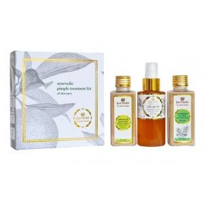 Buy Just Herbs Ayurvedic Pimple Treatment Kit - Nykaa