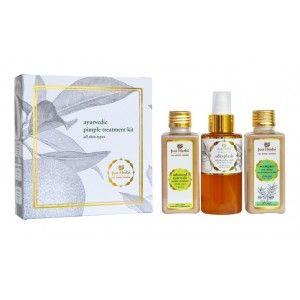 Buy Just Herbs Ayurvedic Pimple Treatment Kit - Nykaa