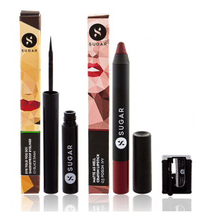 Buy SUGAR Eye Told You So! Smudgeproof Eyeliner + Matte As Hell Crayon Lipstick - 03 Poison Ivy (Wine) Value Set - Nykaa