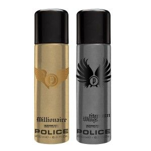 Buy Police Pack Of 2 - Millionaire And Wings Titanium - Nykaa