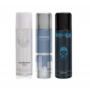 Buy Police Pack Of 3 - Light Blue, Contemporary And To Be Men - Nykaa