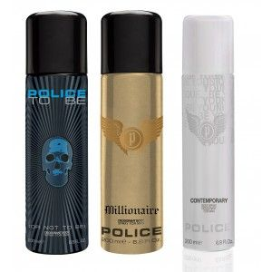Buy Police Pack Of 3 - Contemporary, To Be Men And Millionaire - Nykaa