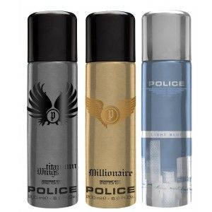Buy Police Pack Of 3 - Millionaire, Wings Titanium And Light Blue - Nykaa