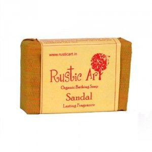 Buy Rustic Art Organic Sandal Soap - Nykaa