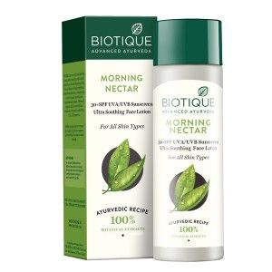 Buy Biotique Bio Morning Nectar Ultra Soothing Face Lotion SPF 30 UVA/UVB - Nykaa