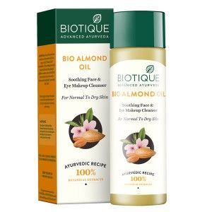 Buy Biotique Bio Almond Oil Soothing Face & Eye Make Up Cleanser for Normal To Dry Skin - Nykaa