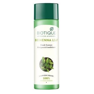 Buy Biotique Bio Henna Leaf  Fresh Texture Shampoo & Conditioner - Nykaa