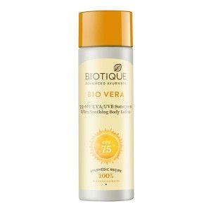 Buy Biotique Bio Vera Sunscreen Ultra Soothing Body Lotion SPF 75 - Nykaa