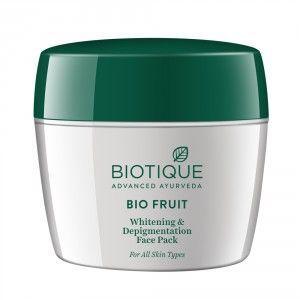 Buy Biotique Bio Fruit Flawless Whitening & Depingmentation Face Pack - Nykaa