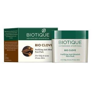 Buy Biotique Bio Clove Purifying Anti- Blemish Face Pack - Nykaa