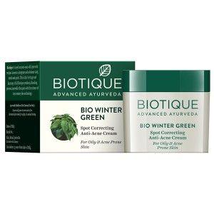 Buy Biotique Bio Winter Green Spot Correcting Anti Acne Cream for Oily & Acne Prone Skin - Nykaa