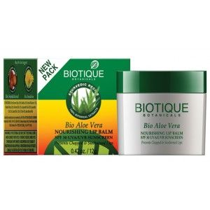 Buy Biotique Bio Aloe Vera Nourishing Lip Balm SPF 30 UVA/UVB - Nykaa
