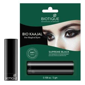 Buy Biotique Kaajal Nourishing & Conditioning Eye Liner With Almond Oil - Nykaa